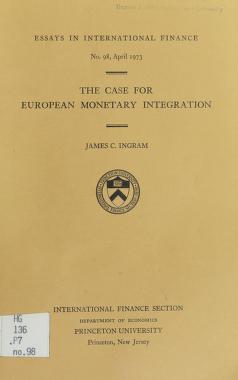 Cover of: The case for European monetary integration | James C. Ingram