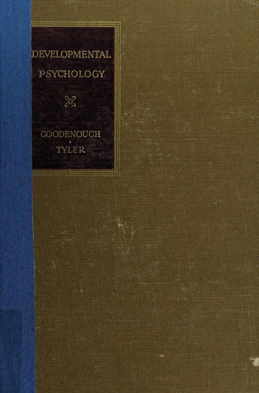 Developmental psychology by Goodenough, Florence Laura