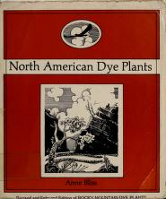 Cover of: North American dye plants | Anne Bliss