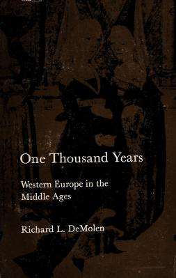 Cover of: One thousand years | Richard Lee De Molen