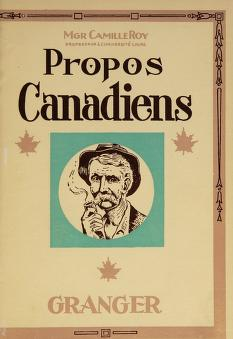 Cover of: Propos canadiens | Roy, Camille